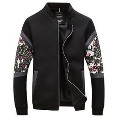 RUYA - Floral Panel Zip Jacket