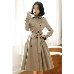 Luv it Dress - Double-Breasted Trench Coat