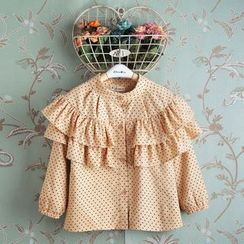 Kidora - 童装荷叶边圆点衬衫