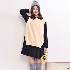 Yammi - Slit Knit Vest
