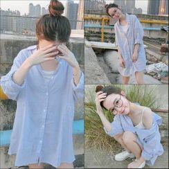 Dream Girl - Striped Long Shirt