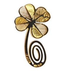 ioishop - Four-Leaf Clover Bookmark - Golden