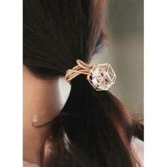 kitsch island - Faux-Pearl Metallic Hair Tie