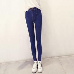 Nassyi - 高腰窄身牛仔褲