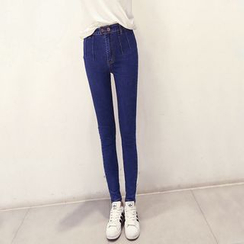 Nassyi - 高腰窄身牛仔裤