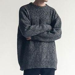 Chuoku - Mélange Slit Back Sweater