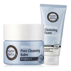 HAPPY BATH - Whiteclay Set: Pore Cleansing Balm 50ml + Cleansing Foam 100g
