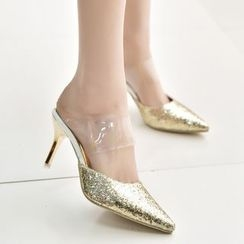 Wello - Glitter Pointy Mules