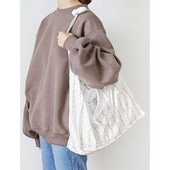 FROMBEGINNING - Floral Pattern Shopper Bag