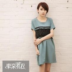Tokyo Fashion - Lace-Trim T-Shirt Dress
