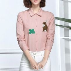 Sentubila - Embroidered Linen Shirt