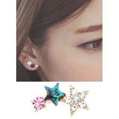 kitsch island - Rhinestone Star Earrings