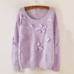 Cotton Candy - Floral Sweater