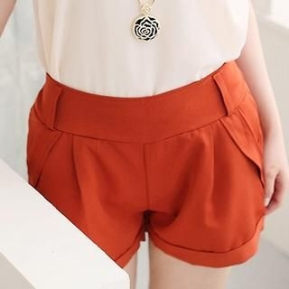 CatWorld - Pleated Cuffed Shorts