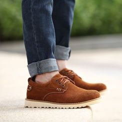 Preppy Boys - Genuine-Leather Lace-Up Shoes