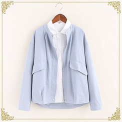 Fairyland - Loose-fit Round Neck Jacket