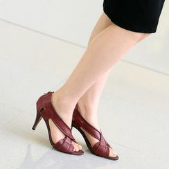 59th Street - Cross-Strap High Heel Sandals