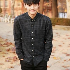 Smallman - Wool-Blend Long-Sleeve Check Shirt