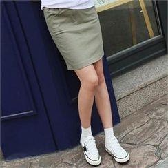 CHICFOX - Band-Waist Mini Skirt