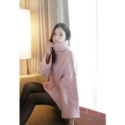 MyFiona - Turtle-Neck Loose-Fit Sweater