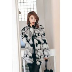 PPGIRL - Open-Front Faux-Fur Jacket