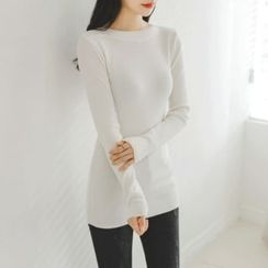 JUSTONE - Boat-Neck Slim-Fit Knit Top