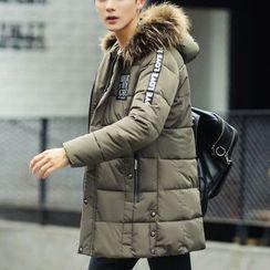 Bay Go Mall - Furry Hooded Padded Coat