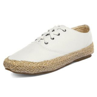 yeswalker - Faux Leather Espadrille Lace-Up Shoes