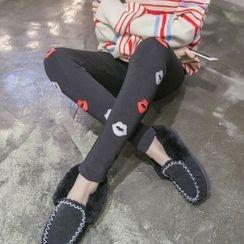 Mandalle - Lips Applique Leggings
