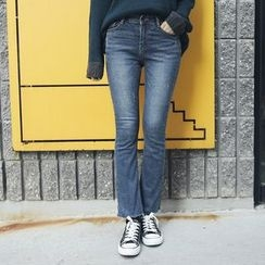 Envy Look - Fleece-Lined Boot-Cut Jeans
