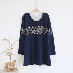 Janseed - Long-Sleeve Embroidered Pullover
