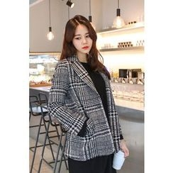 PPGIRL - Single-Breasted Tweed Jacket