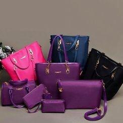 Denyard - Set: Tote + Cross Bag + Pouch + Shoulder Bag + Wristlet + Boston Bag
