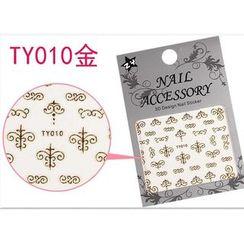 Benlyz - 3D Nail Sticker (TY-10G)