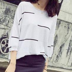 蘭芝 - 條紋毛衣