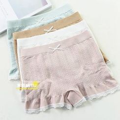 MITU - Lace Trim Boy Shorts