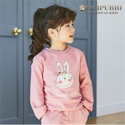 LILIPURRI - Girls Rabbit Print Top