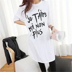 PEPER - Lettering Long T-Shirt