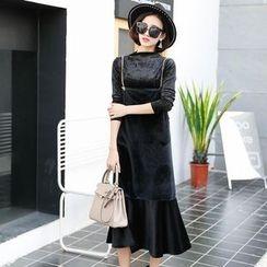 EFO - 套裝:長袖上衣 + 無袖细肩帶連衣裙
