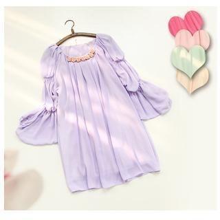 11.STREET - Long-Sleeve Pleated Dress