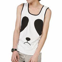 Free Shop - Panda Print Tank Top