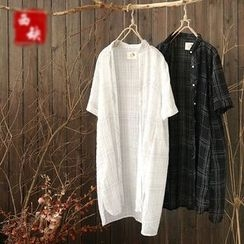 Rosadame - 格紋長款襯衫