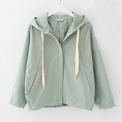 Meimei - Plain Hooded Jacket