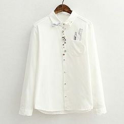ninna nanna - Embroidered Long-Sleeve Blouse