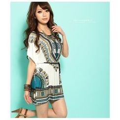 Hotprint - Print Tunic with Sash
