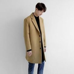 Seoul Homme - Single-Breasted Long Coat