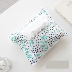 聚可愛 - 碎花麻布棉質紙巾盒