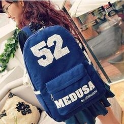 Crystal - '52' Print Canvas Backpack