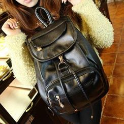 Miss Sweety - Faux Leather Backpack
