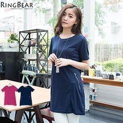 RingBear - Short Sleeve Zipped  T-Shirt